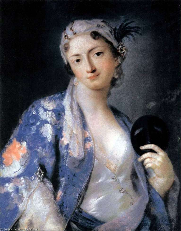 Portret Felicity Sartori w tureckim kostiumie   Rosalba Carriera