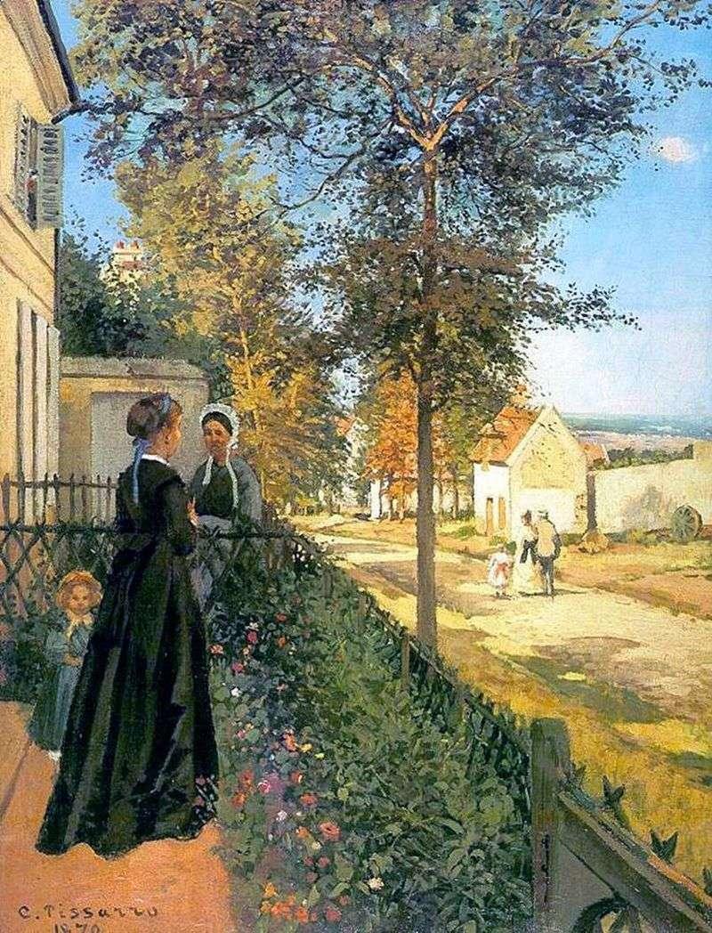 Lovelyenn. Droga do Wersalu (droga z Wersalu do Lyuvesien)   Camille Pissarro