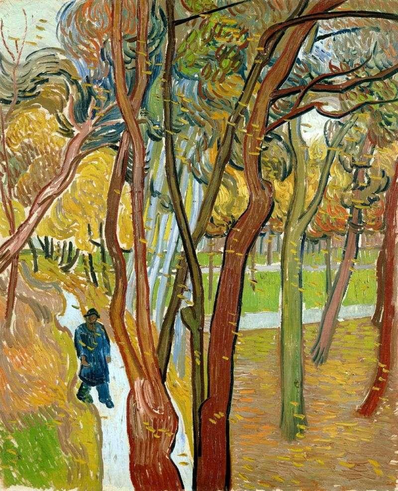 Jesienny liść upadek, spacer   Vincent Van Gogh