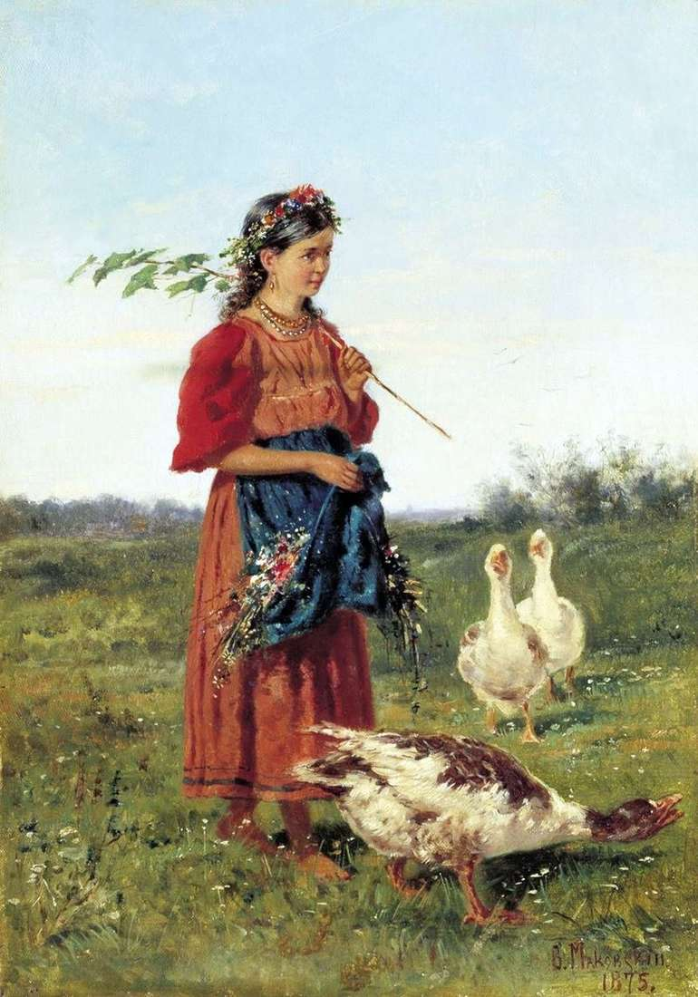 Dziewczyna z gęsi   Vladimir Makovsky