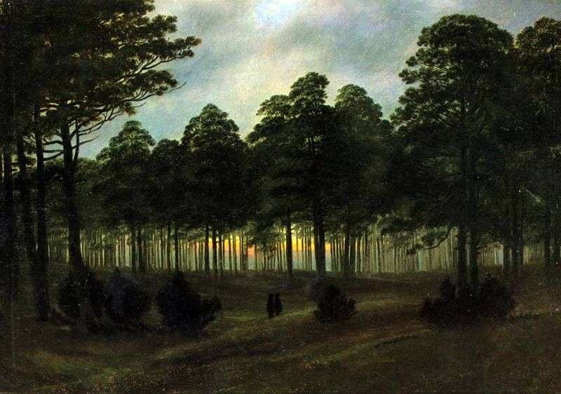 Wieczór   Caspar David Friedrich
