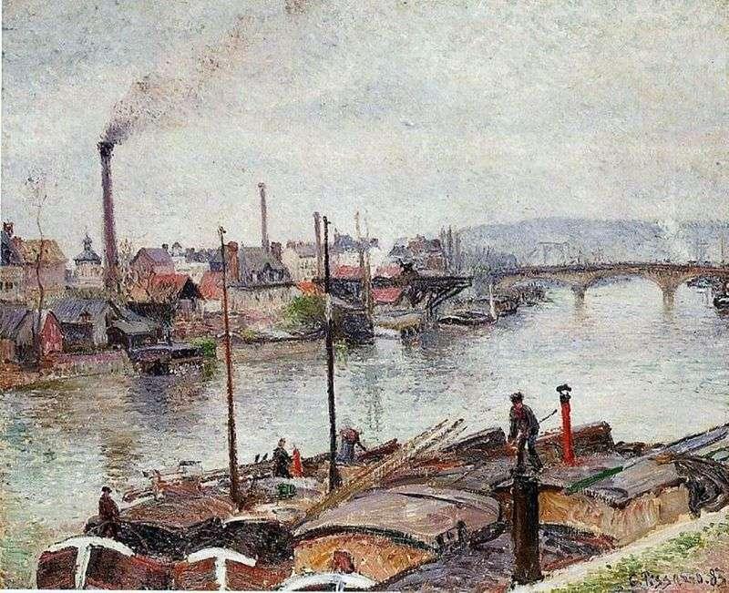 Wyspa Lacroix Rouen   Camille Pissarro