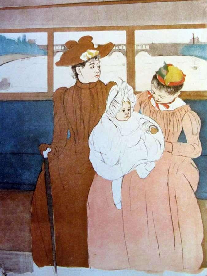 W omnibusie   Mary Cassat