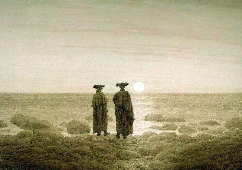 Wschód Księżyca   Caspar David Friedrich