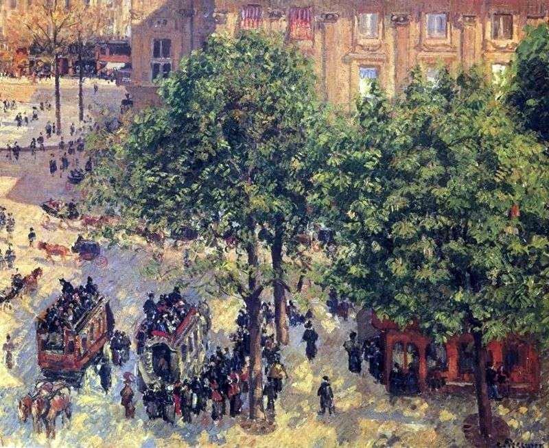 Place de lEurope w Paryżu   Camille Pissarro