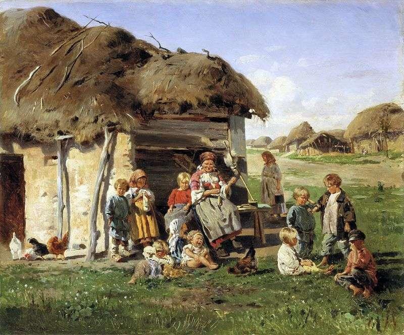 Chłopskie dzieci   Władimir Makowski