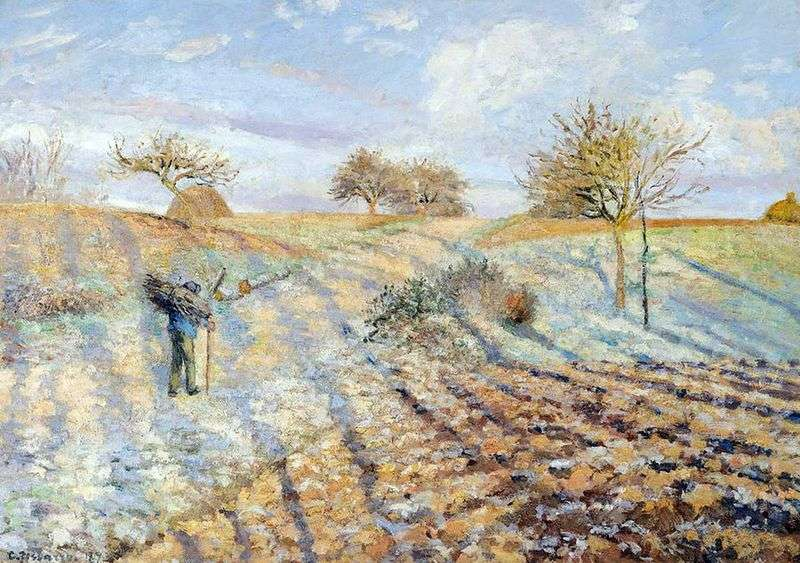 Stara droga z Anneri do Pontoise. Frosts   Camille Pissarro