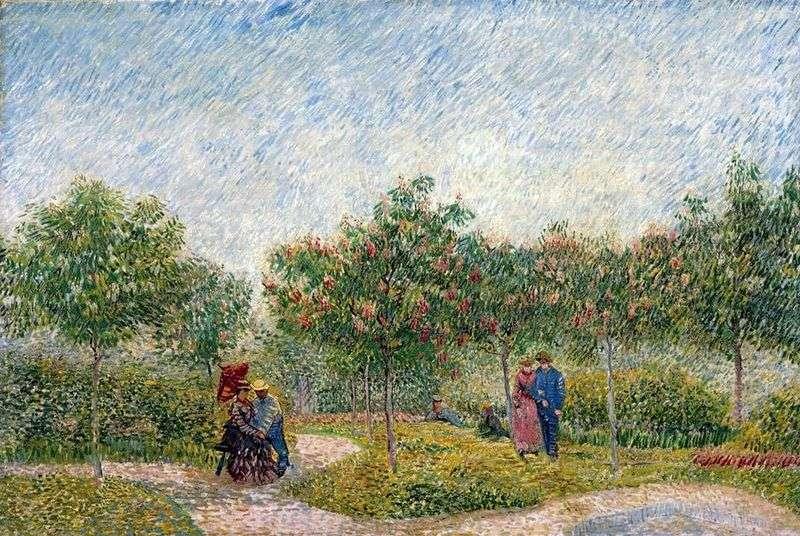 Pary w Parc dArgenson w Anyier   Vincent van Gogh