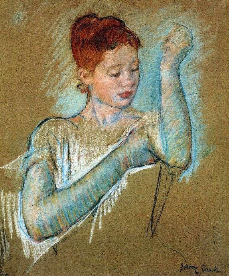 Długie rękawiczki   Mary Cassat