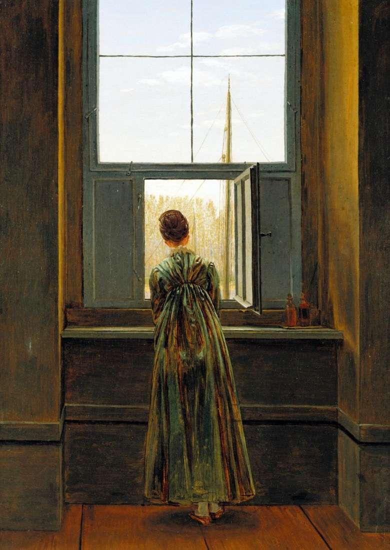 Kobieta przy oknie   Caspar David Friedrich