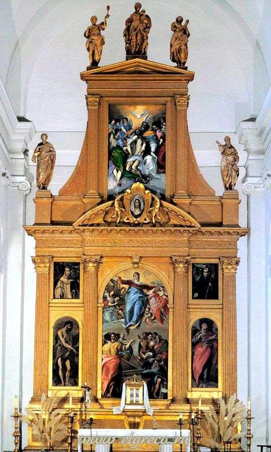 Ołtarz kościoła Santo Domingo el Antiguo w Toledo   El Greco