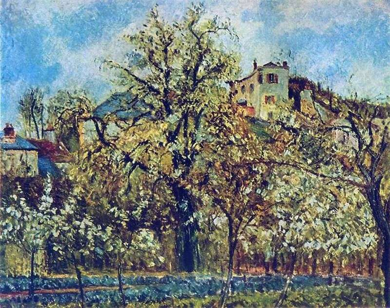 Sad w Pontoise. Wiosna   Camille Pissarro