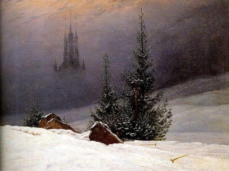 Zimowy krajobraz   Caspar David Friedrich