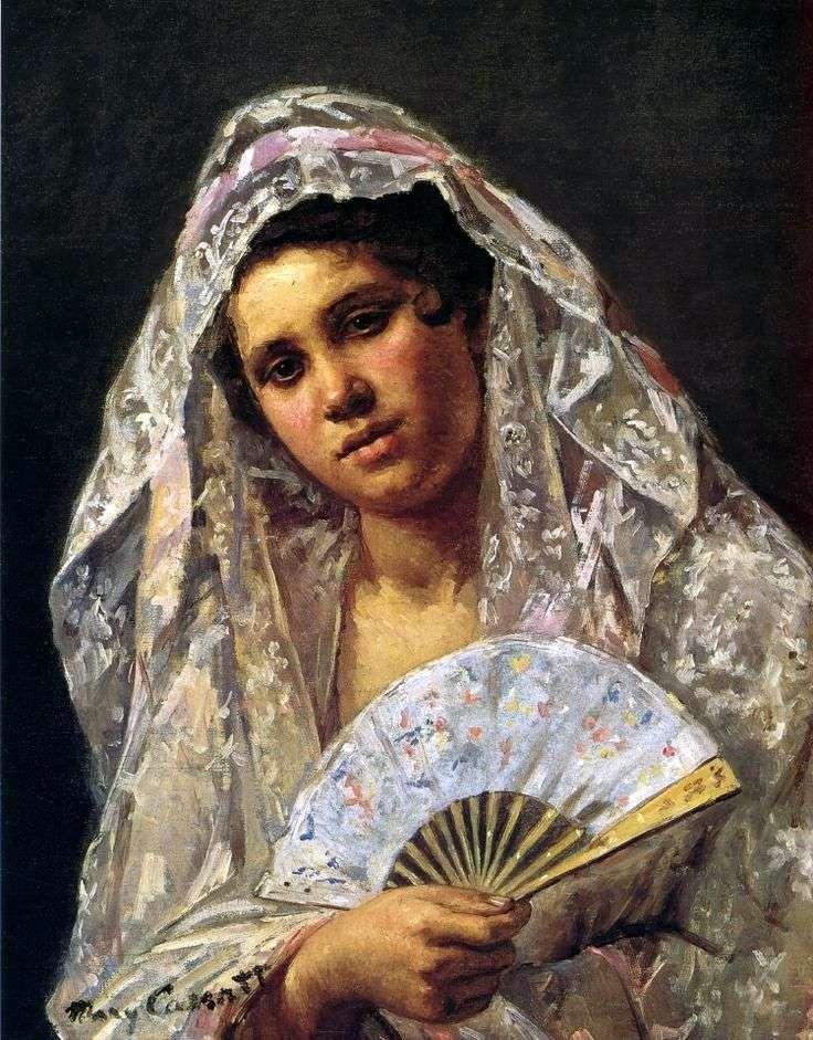 Hiszpański tancerz w koronkowej mantilli   Mary Cassat