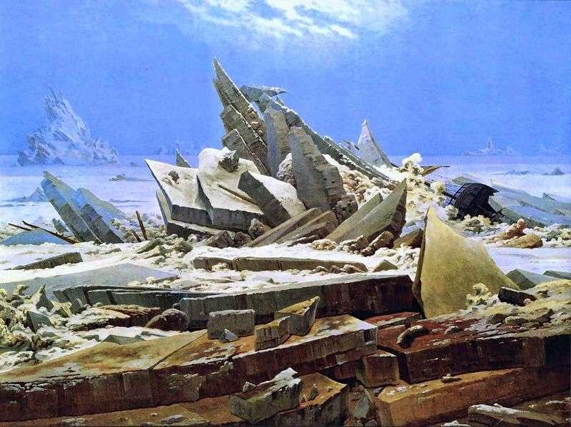 Wrak statku w Arktyce   Caspar David Friedrich