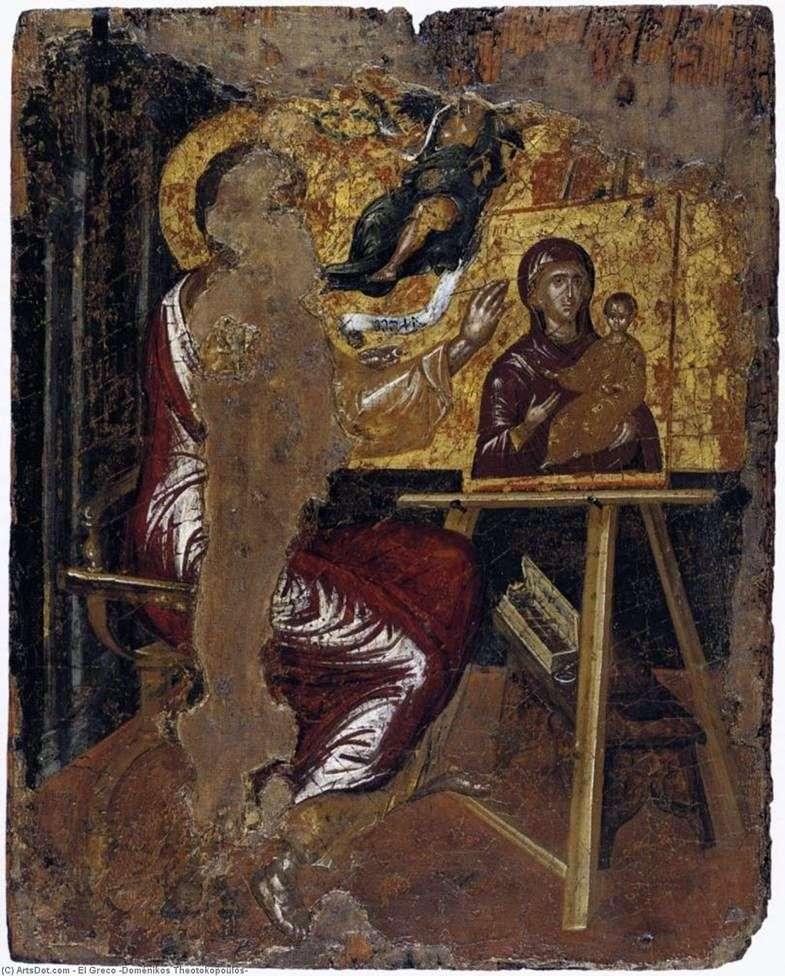 Apostoł Łukasz maluje obraz Matki Boskiej   El Greco
