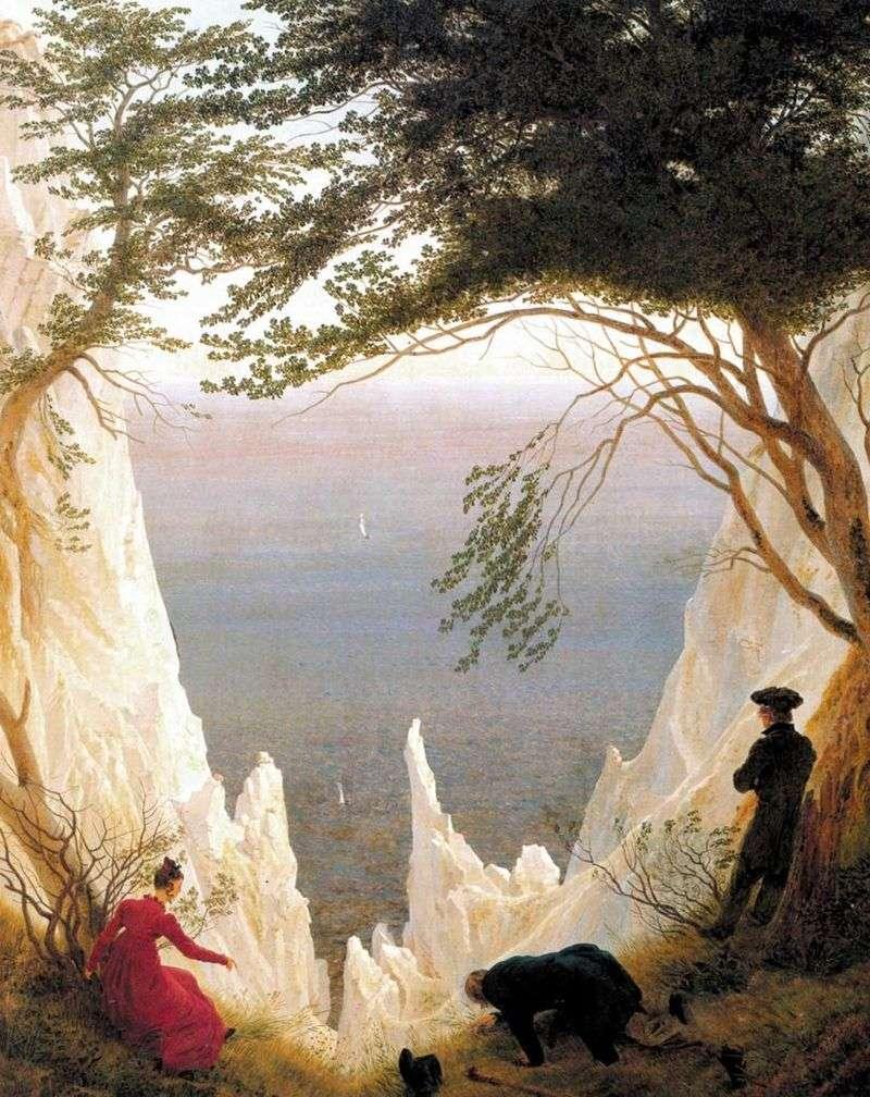 Kredowe klify na wyspie Rugia   Caspar David Friedrich