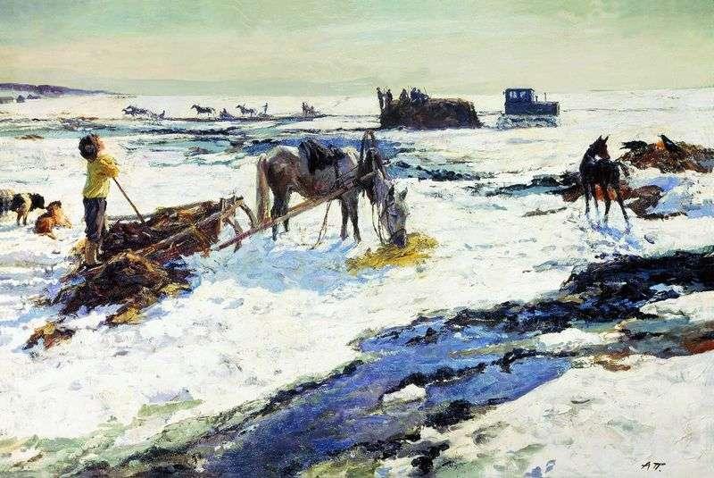Rustykalny marzec   Arkady Plastov