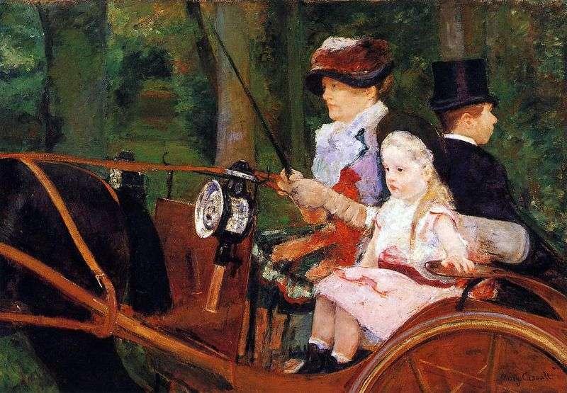 Matka i dziecko w wagonie   Mary Cassat
