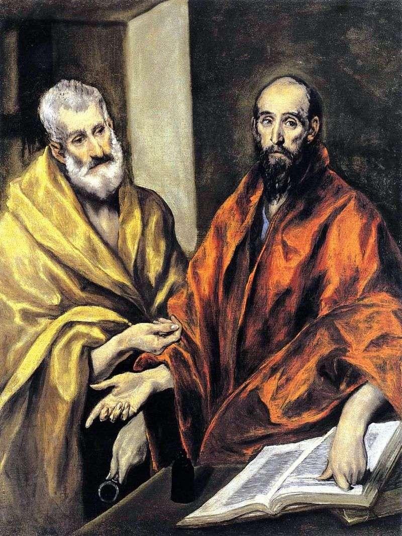 Święci Apostołowie Piotr i Paweł   El Greco