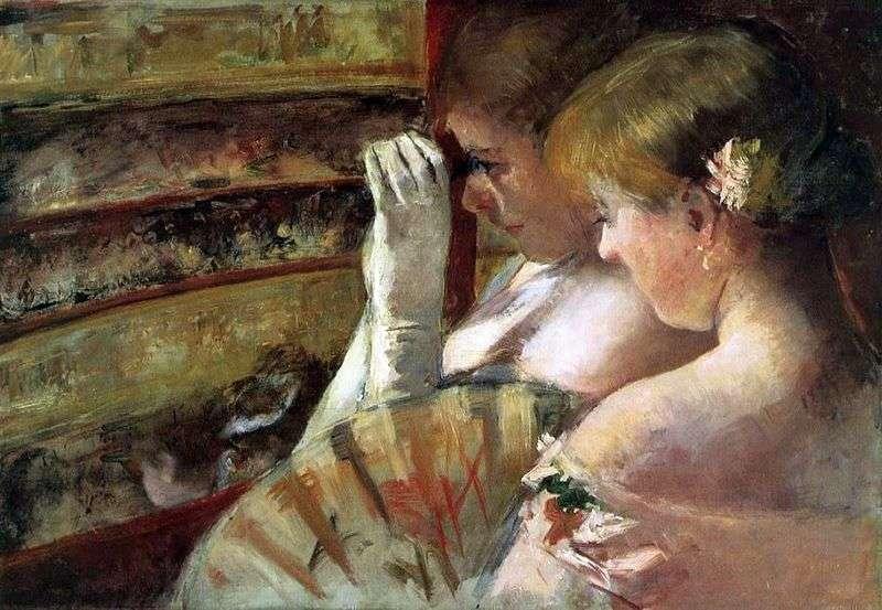 Młode kobiety w pudełku   Mary Cassat