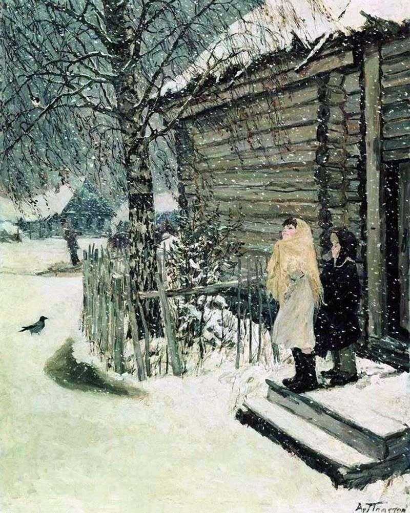 Pierwszy śnieg   Arkady Plastov