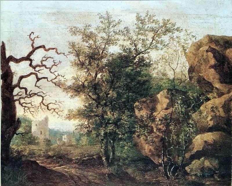 Krajobraz z suchym drzewem   Caspar David Friedrich