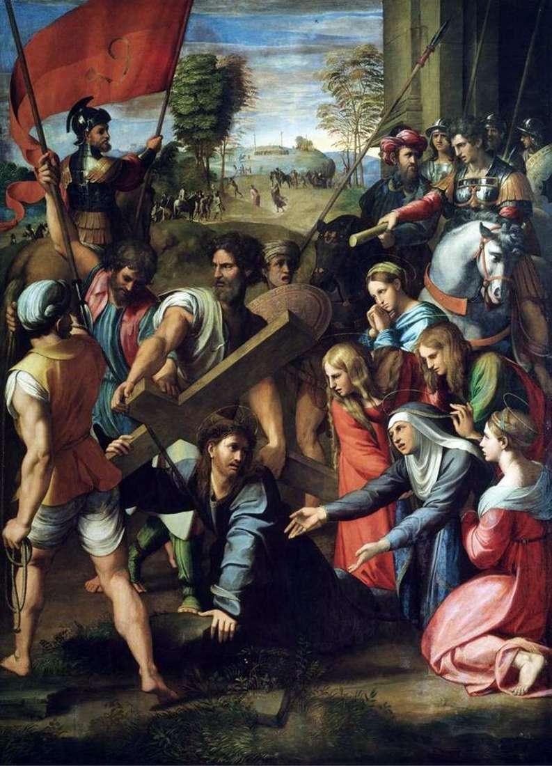 Upadek Chrystusa w drodze na Kalwarię   Rafael Santi