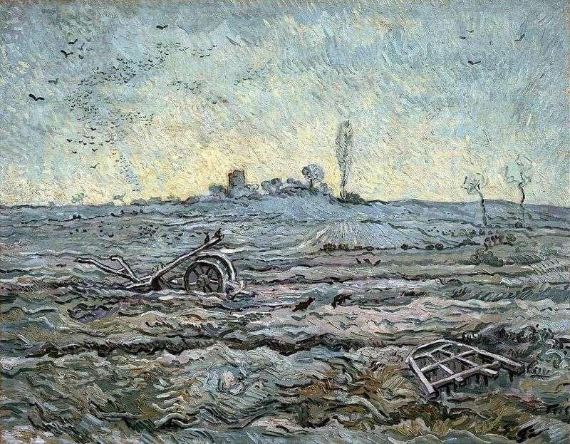 Pług i brona (proso)   Vincent Van Gogh