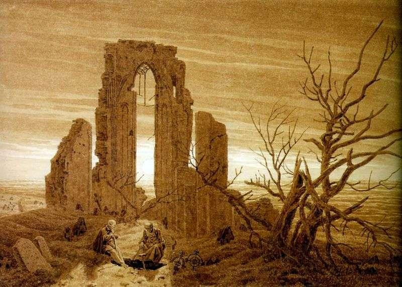 Ruiny opactwa w Elden   Caspar David Friedrich
