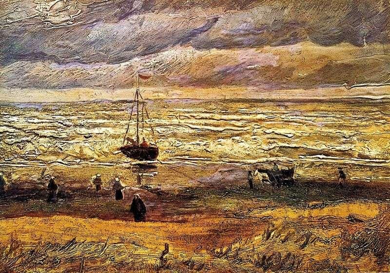Plaża w Scheveningen   Vincent Van Gogh