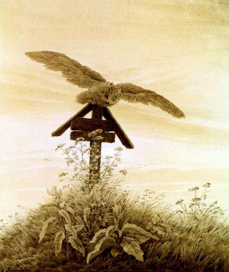 Sowa na grobie   Caspar David Friedrich