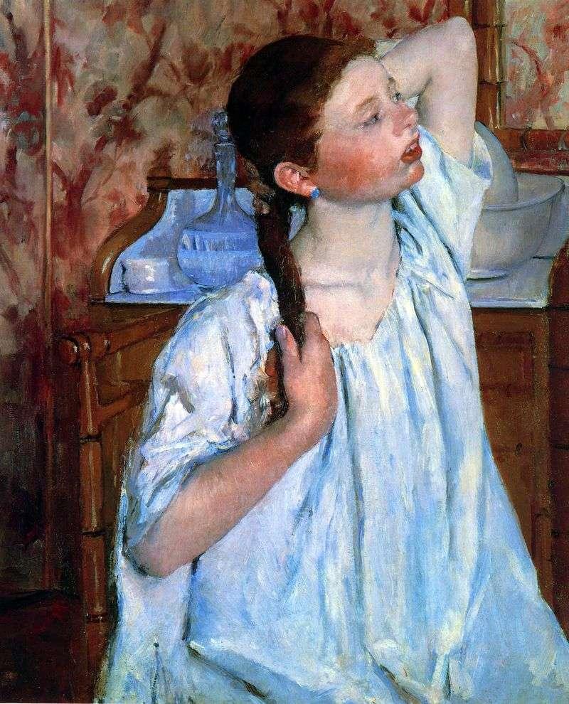 Poranna toaleta   Mary Cassat