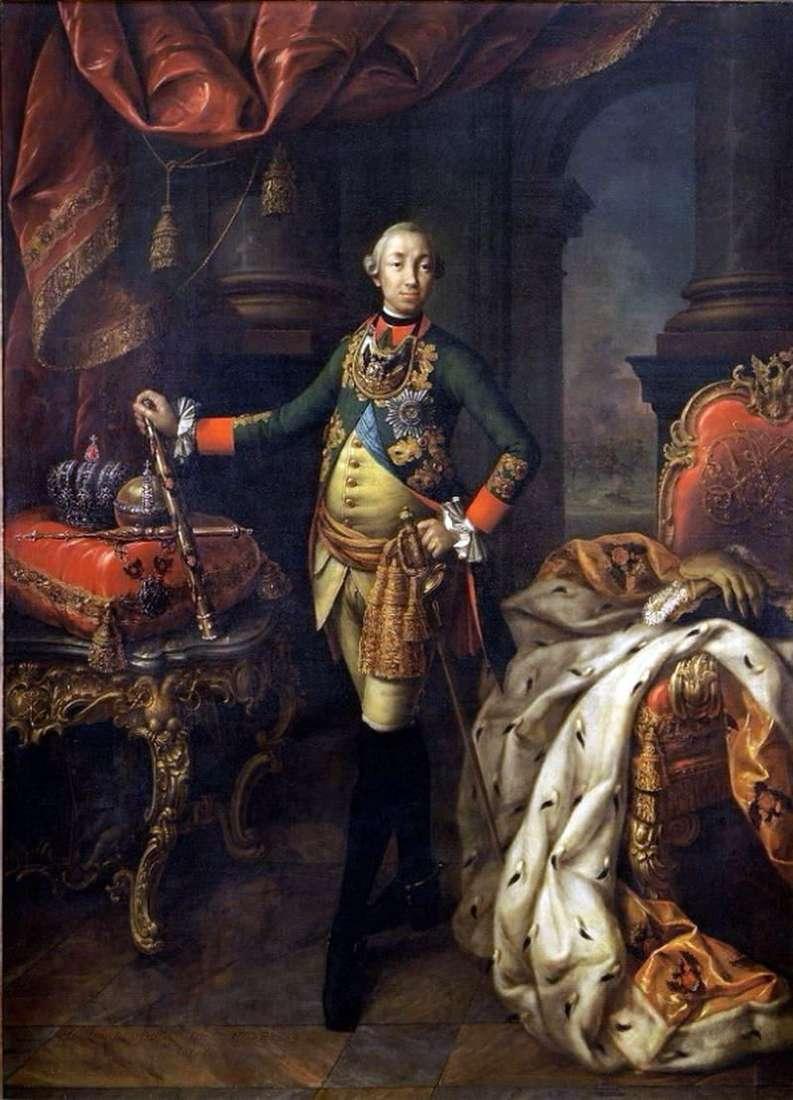 Portret cesarza Piotra III   Aleksieja Antropowa