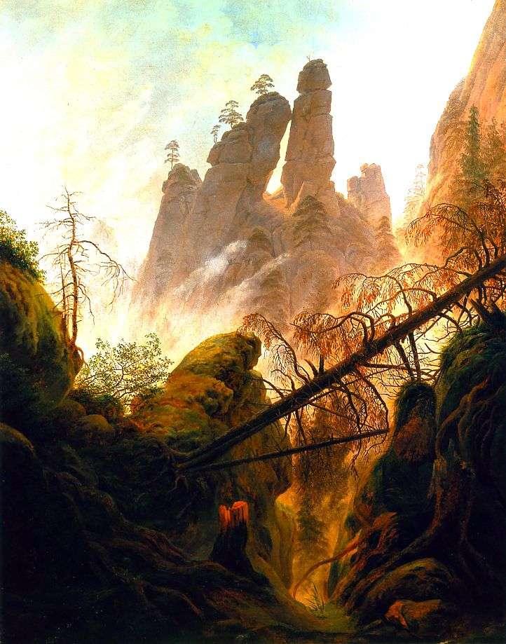 Gorge   Caspar David Friedrich