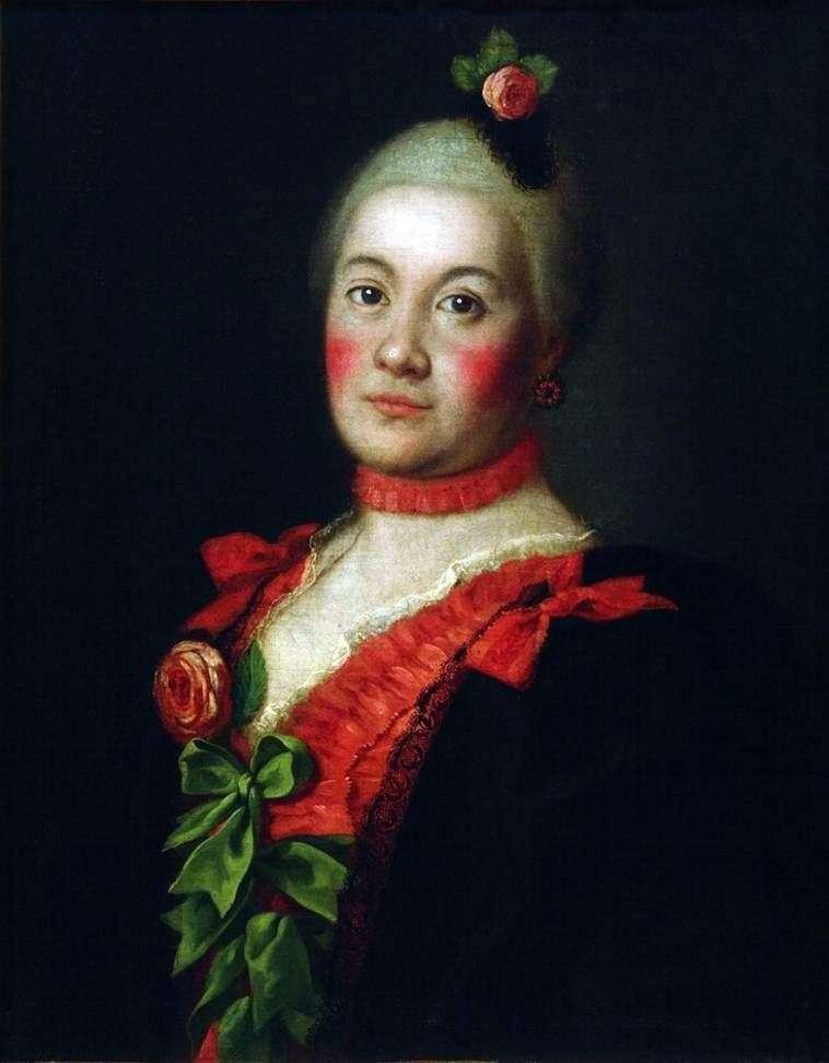 Portret księżnej T. A. Trubetskoya   Aleksieja Antropowa