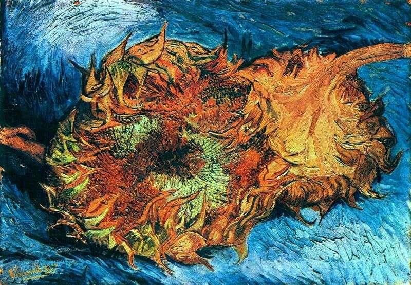 Słoneczniki Dwa ścięte słoneczniki   Vincent Van Gogh