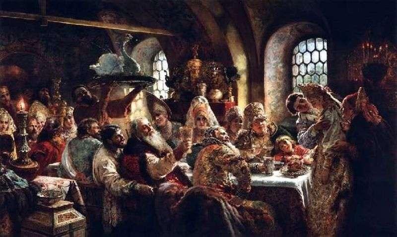Święto Wesela Boyarskiego z XVII wieku   Konstantin Makowski