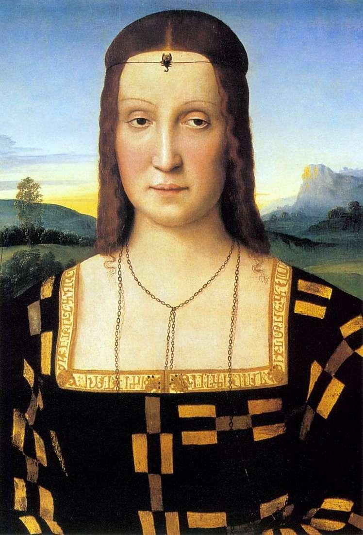 Portret Elizabeth Gonzago   Rafael Santi