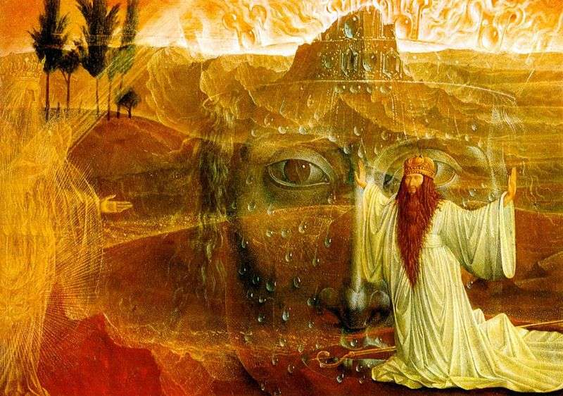 Mojżesz i płonący krzak   Ernst Fuchs