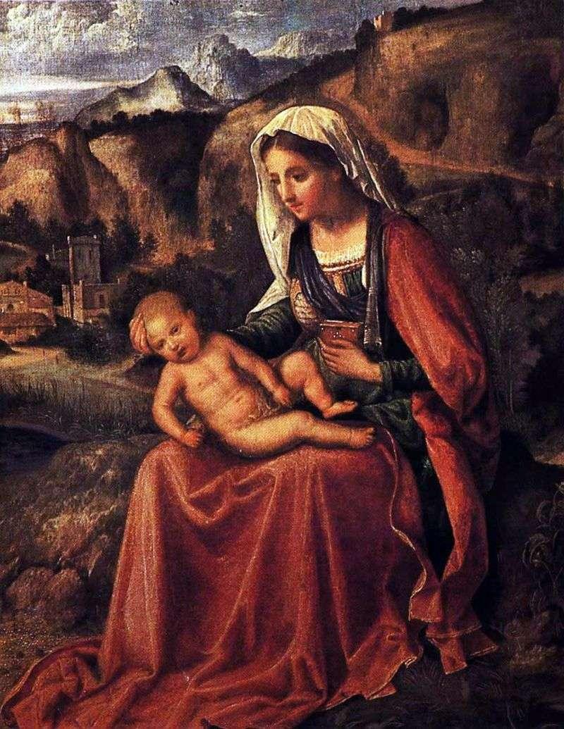 Madonna z Dzieciątkiem w pejzażu   Giorgione Barbarelli da Castelfranco