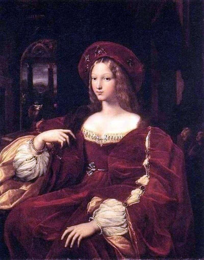 Portret Jeanne de Aragon   Rafael Santi