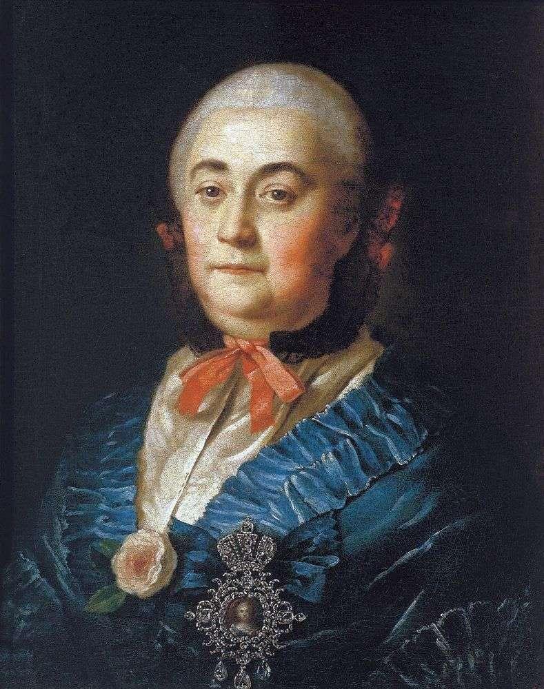 Portret pani państwowej Anastasia Izmailova   Aleksiej Antropow