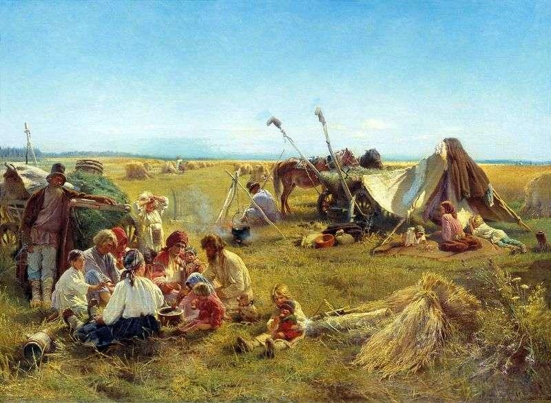 Chłopski obiad podczas żniwa   Konstantin Makovsky