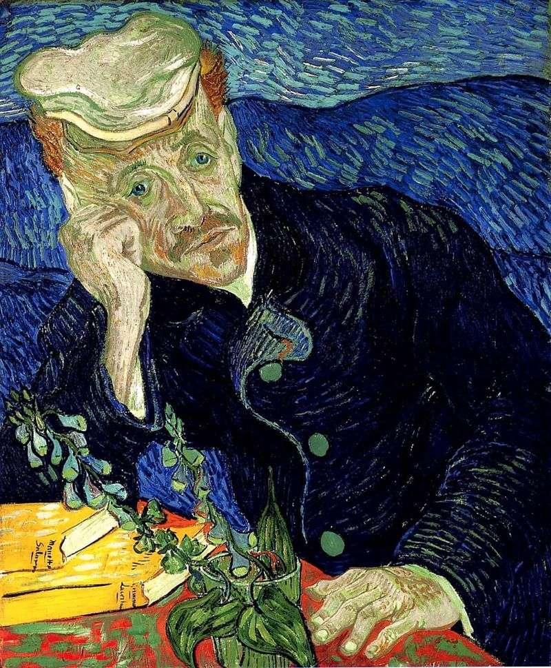Portret doktora Gachet II   Vincent Van Gogh