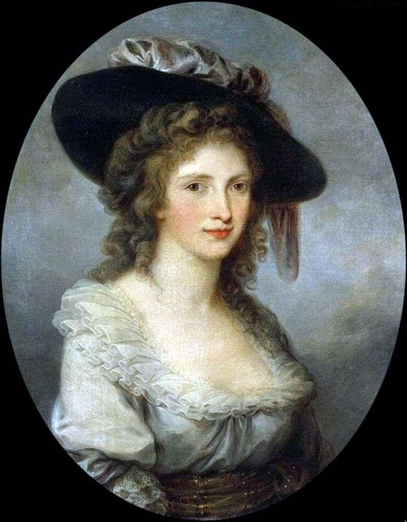 Autoportret w czapce z jedwabną kokardką   Angelika Kaufman