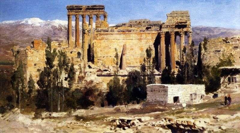 Baalbek. Ruiny świątyni Jowisza i Świątynia Słońca   Wasilij Polenow