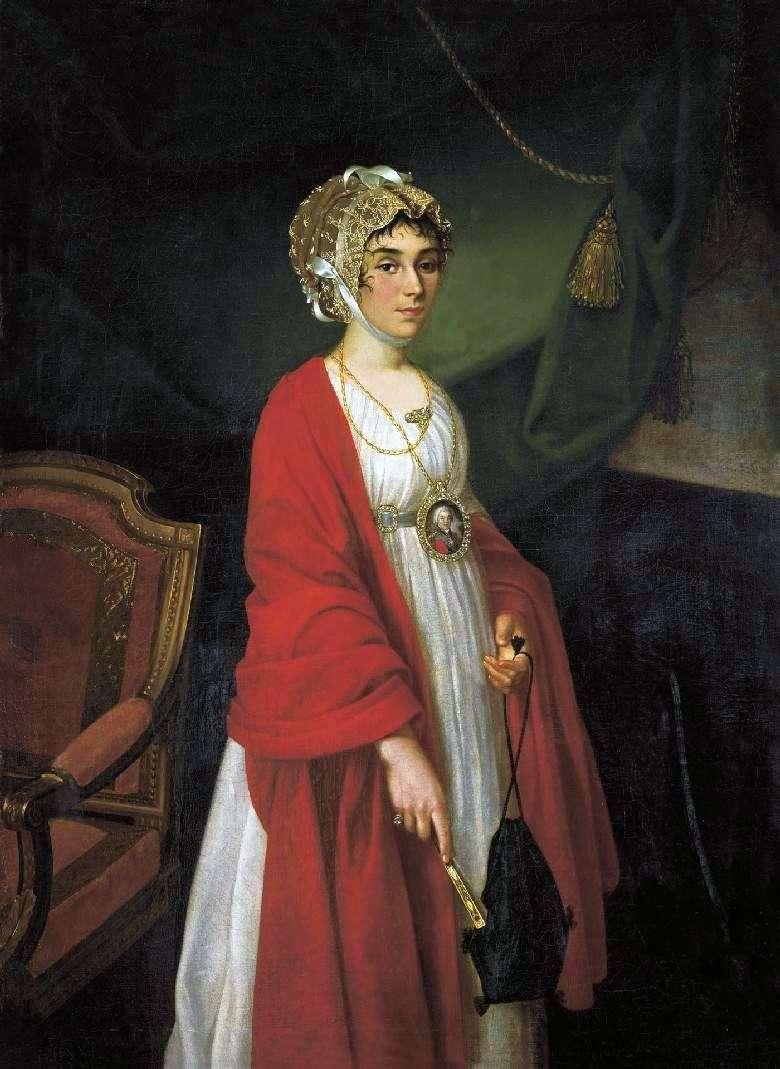 Portret aktorki P. I. Kovaleva Zhemchugova   Ivan Argunov