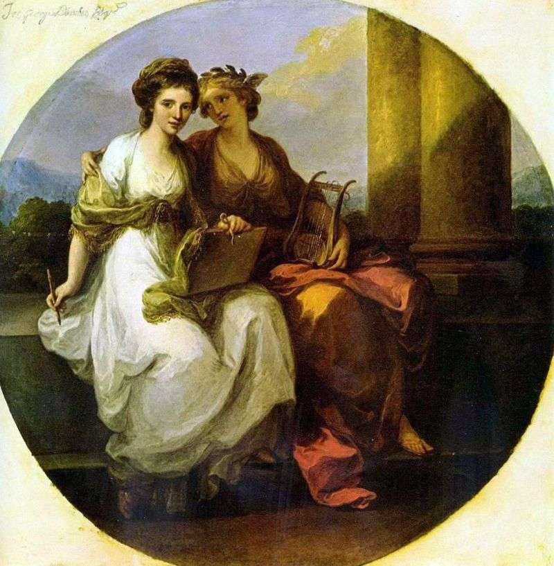 Alegoria poezji i muzyki   Angelika Kaufman