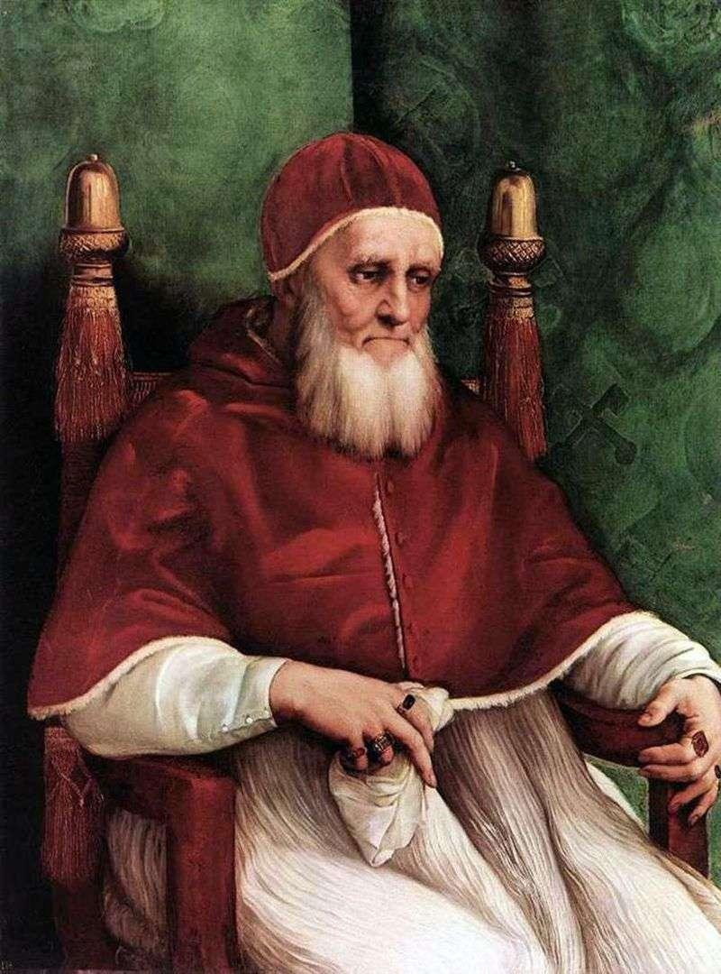 Portret papieża Juliusza II   Rafael Santi